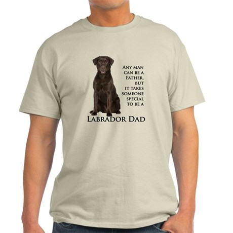 Chocolate Lab Dad Light T-Shirt