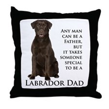 Chocolate Lab Dad Throw Pillow