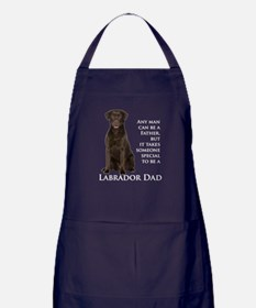 Chocolate Lab Dad Apron (dark)