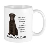 Chocolate lab dad Coffee Mugs