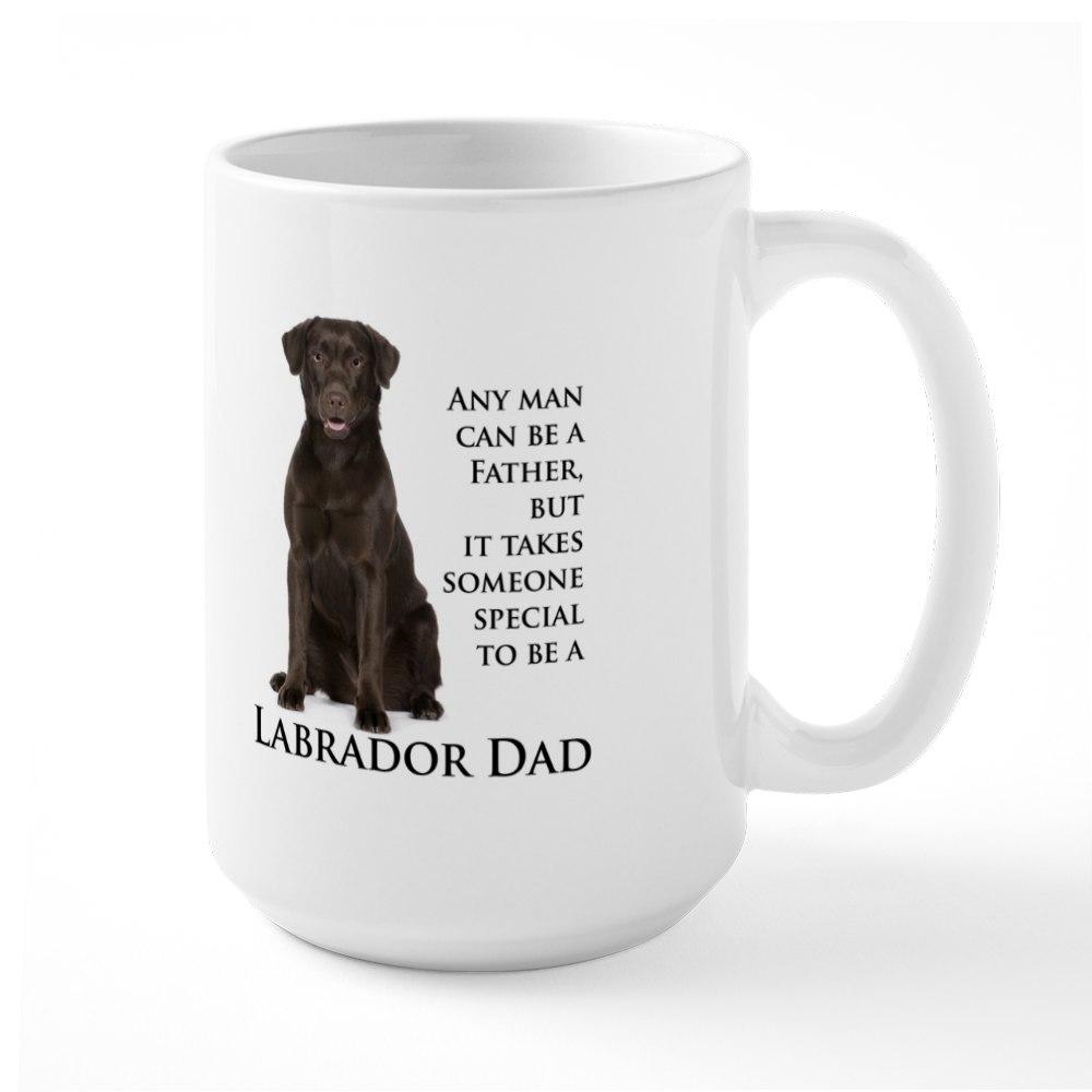 CafePress Chocolate Lab Dad Large Mug
