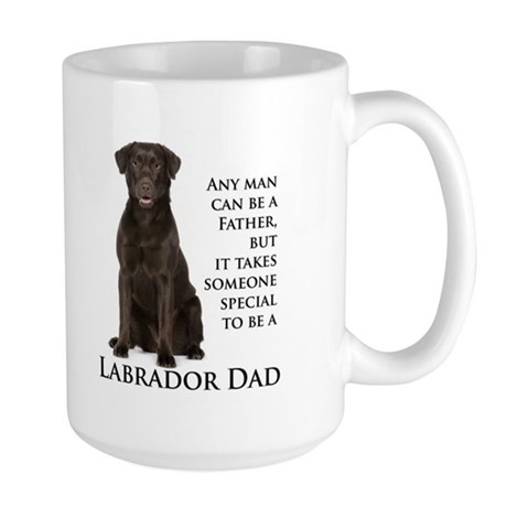 Chocolate Lab Dad Large Mug