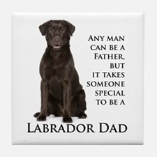 Chocolate Lab Dad Tile Coaster