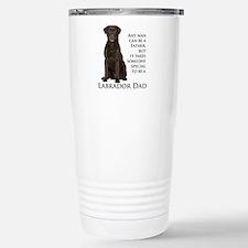 Chocolate Lab Dad Stainless Steel Travel Mug