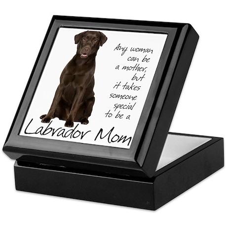 Chocolate Lab Mom Keepsake Box