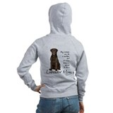 Chocolate lab Zip Hoodies