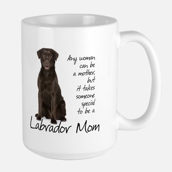 Chocolate Lab Mom Large Mug