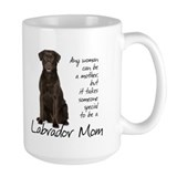 Chocolate lab mom Large Mugs (15 oz)