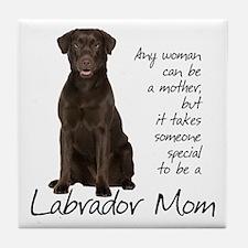 Chocolate Lab Mom Tile Coaster