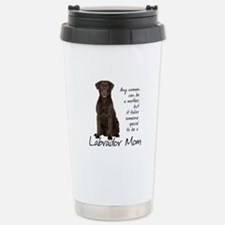Chocolate Lab Mom Stainless Steel Travel Mug