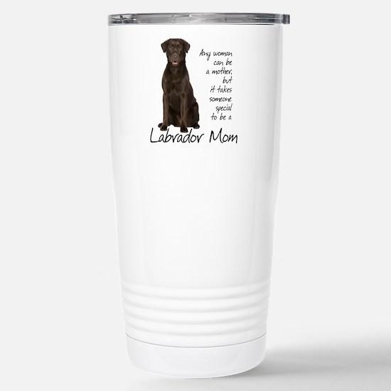 Chocolate Lab Mom Stainless Steel Travel Mug