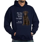 Chocolate labrador retriever Dark Hoodies