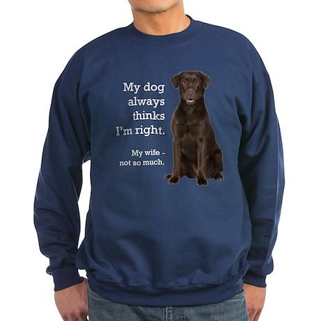 Chocolate Lab v. Wife Sweatshirt (dark)