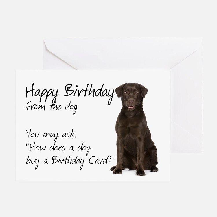 Chocolate Labrador Retriever Puppy Cards Photo Card