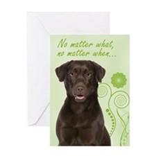 Chocolate Lab Love/Support Greeting Card