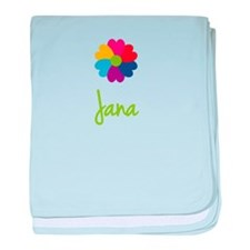 Jana Valentine Flower baby blanket