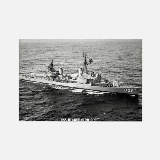 USS HIGBEE Rectangle Magnet