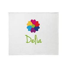 Delia Valentine Flower Throw Blanket