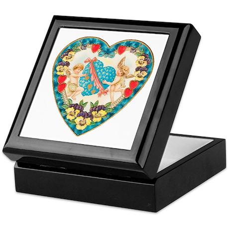Cupids with Heart Keepsake Box