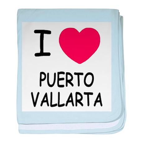 I heart puerto vallarta baby blanket