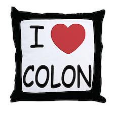 I heart colon Throw Pillow