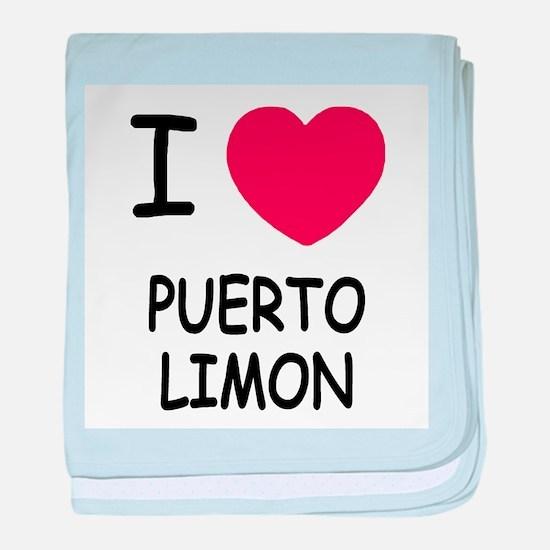 I heart puerto limon baby blanket