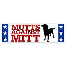 Mutts Against Mitt Car Sticker