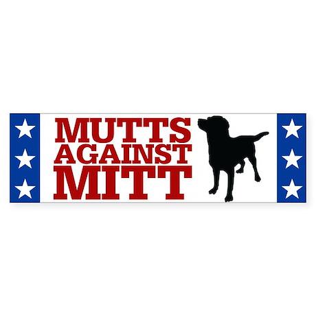 Mutts Against Mitt Sticker (Bumper)