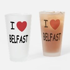 I heart belfast Drinking Glass