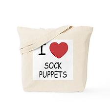 I heart sock puppets Tote Bag