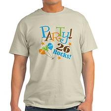 26 Rocks 26th Birthday T-Shirt