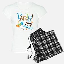 27 Rocks 27th Birthday Pajamas