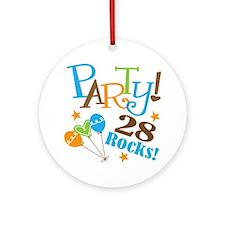 28 Rocks 28th Birthday Ornament (Round)
