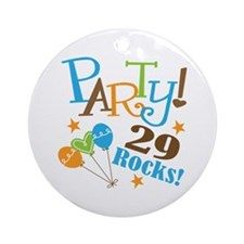 29 Rocks 29th Birthday Ornament (Round)