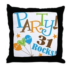 31 Rocks 31st Birthday Throw Pillow