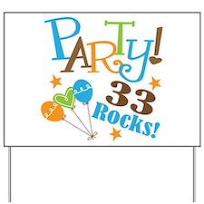 33 Rocks 33rd Birthday Yard Sign