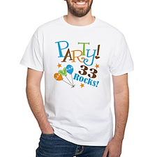 33 Rocks 33rd Birthday Shirt