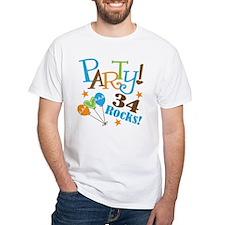 34 Rocks 34th Birthday Shirt