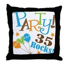 35 Rocks 35th Birthday Throw Pillow