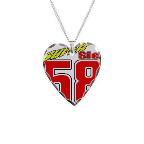 MS58SS2 Necklace Heart Charm