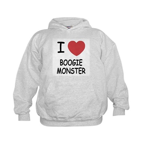 I heart boogie monster Kids Hoodie