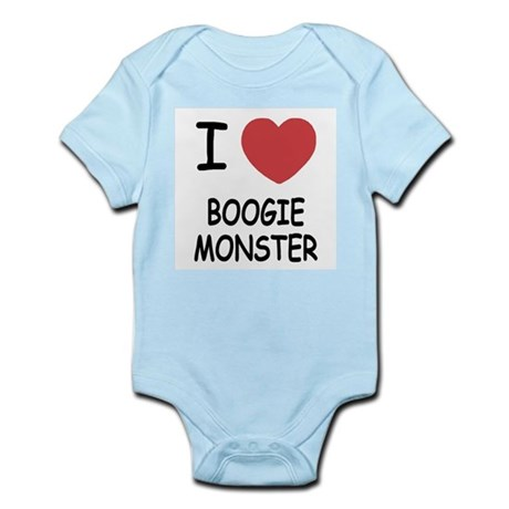 I heart boogie monster Infant Bodysuit