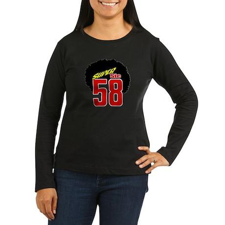 MS58SSafro Women's Long Sleeve Dark T-Shirt