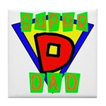 Superhero Super Dad Tile Coaster