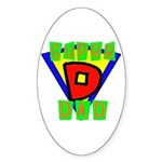 Superhero Super Dad Oval Sticker