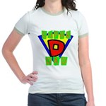 Superhero Super Dad Jr. Ringer T-Shirt