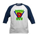 Superhero Super Dad Kids Baseball Jersey