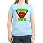 Superhero Super Dad Women's Pink T-Shirt