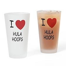 I heart hula hoops Drinking Glass