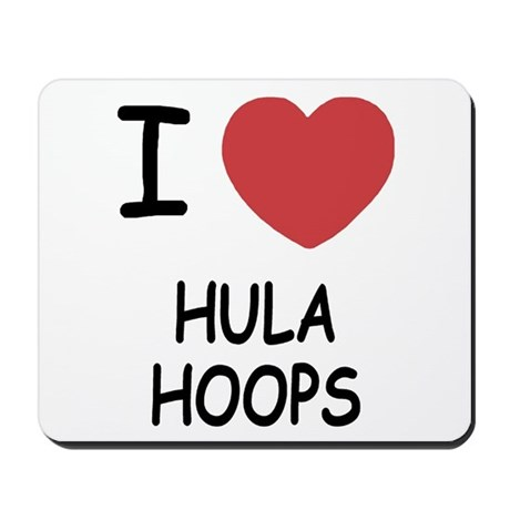 I heart hula hoops Mousepad